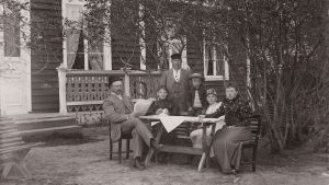 Familjen samlad på Strömsö