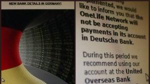 Collage över OneCoins bankkonton
