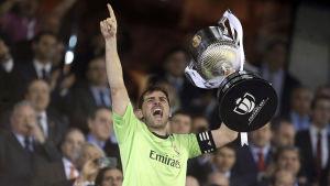 Iker Casillas firar segern i Copa del Rey 2014.