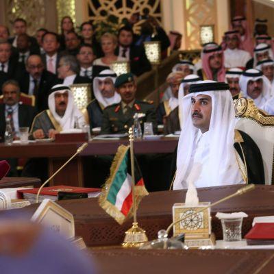 Qatarin johtaja Tamim bin Hamad Al Thani