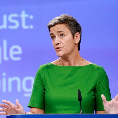 Kilpailuasioiden komissaari Margrethe Vestager.