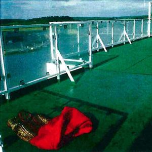 Brottsplatsen dagen efter mordet på Viking Sally år 1987.