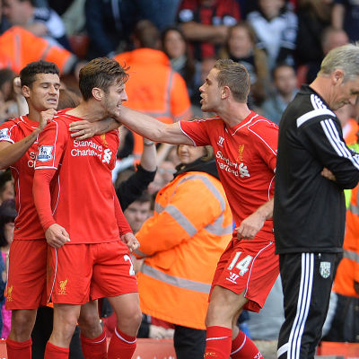 Alan Irvine i matchen mot Liverpool, oktober 2014