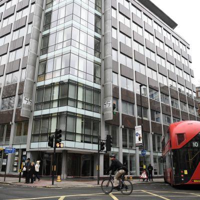 Cambridge Analytican pääkonttori Lontoossa, Isossa-Britanniassa.