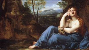 Carracci, Annibale: The Penitent Magdalen in a Landscape,n. 1598 (yksityiskohta)