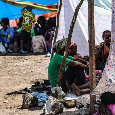 Etiopialaisia pakolaisia Hamdaitin raja-alueella Itä-Sudanissa.