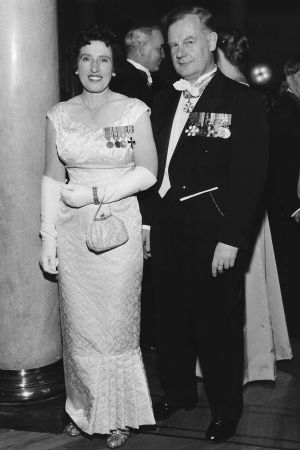 Fanny och Bruno Nyberg 1957 på självstädighetsbalen