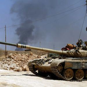 Iraks styrkor stred mot IS vid Tal Afari i augusti 2017.
