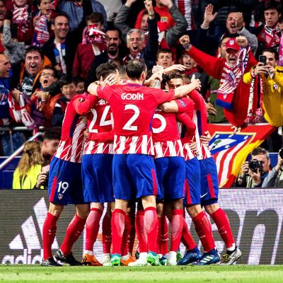 Atletico Madrid juhlii.