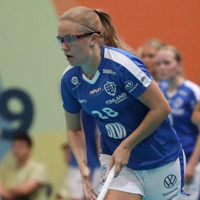 Veera Kauppi i farten för landslaget.