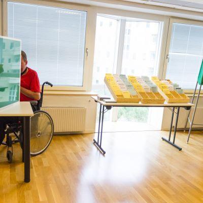Äänestyspaikka Tukholmassa