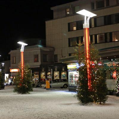 Jouluvalot Rovaniemen Koskikadulla jouluna 2016