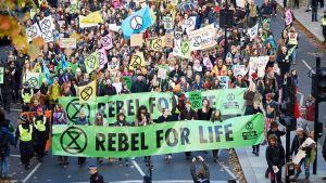 miljödemonstration i London