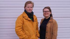 Sonja Jungar-Irjala och Mimmi West.