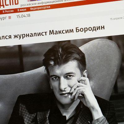 Maksim Borodinin kuva Novyi denin verkkosivulla.