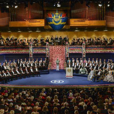 Nobel-palkintojen juhla vuoden 2016 joulukuussa.