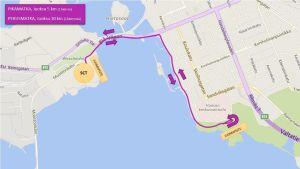 Löprutten för Sun City Triathlon