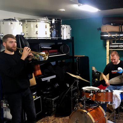 Bowman Trio i sin replokal