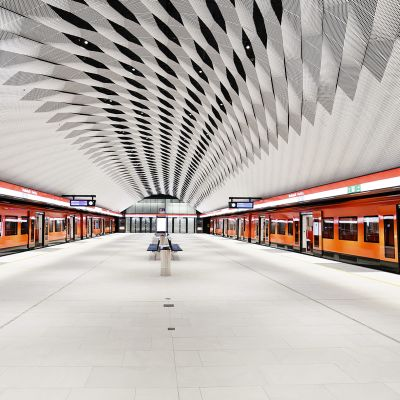 Metrojunat Matinkylän asemalla Espoossa