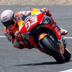 Marc Marquez kör i säsongspremiären 2020.