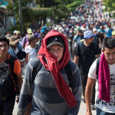 Tällainen on Keski-Amerikan kuuluisa siirtolaiskaravaani -katso video