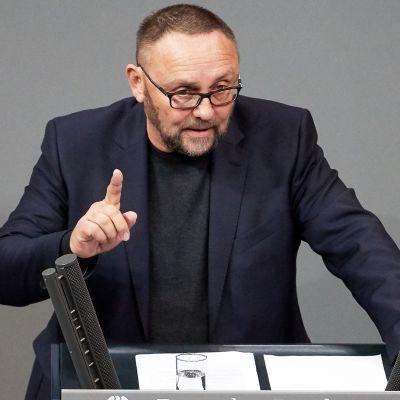 Vaihtoehto Saksalle -puolueen (AfD) Bremenin-osaston johtaja Frank Magnitz
