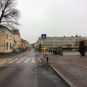 Borgå centrum kring busstationen.