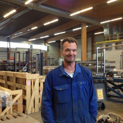 Johnny Söderholm är huvudförtroendeman på Tamware i Malax.