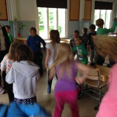 Västersundoms skola har pausgymnastik