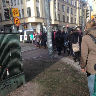 Vänskapsmarsch i Helsingfors den 5 mars 2015.