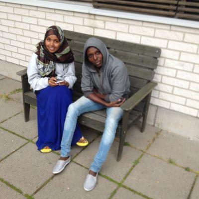 Asylsökande vid flyktingförläggningen i Torneå 2015