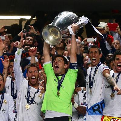 Real Madrid vann Champions League säsongen 2013-2014.