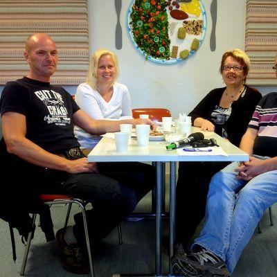 Henrik Pott, Charlotta Karf, Sonja Renvall och Jan-Erik Stenroos