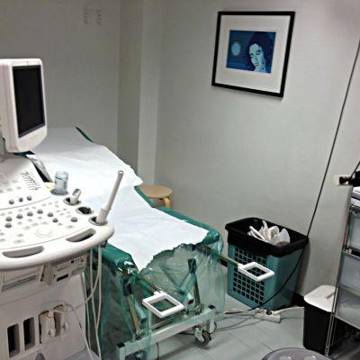 Undersökningsstol hos gynekologen