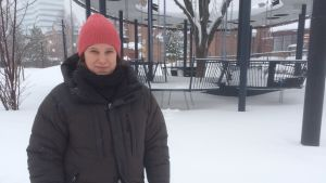 Jämställdhetsstrateg Linda Gustafsson vid Frizonsparken i Umeå