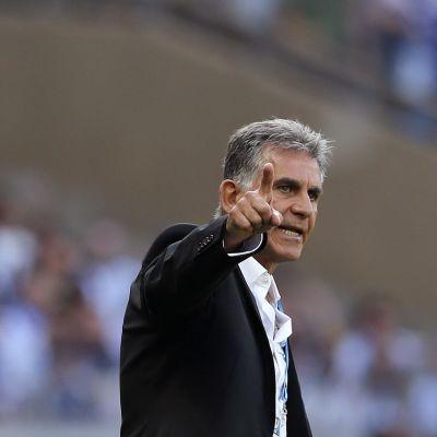 Iranin valmentaja Carlos Queiroz.
