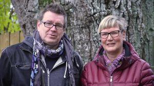 Kennet Lindholm och Lea Adolfsson.