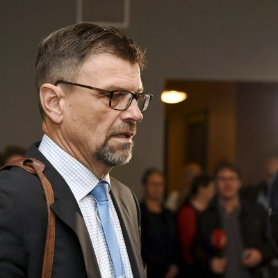 Matti Nissinen virkarikossyytteidensä käsittelyssä korkeimmassa oikeudessa (KKO) Helsingissä 15. marraskuuta 2017.
