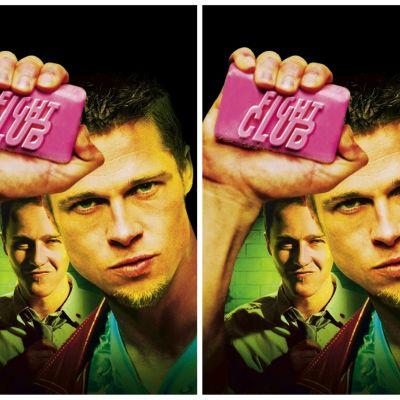 Edward Norton och Brad Pitt slåss på riktigt (iallafall nästan) i Fight Club.