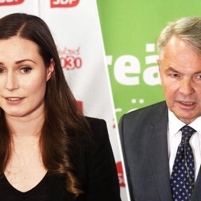 Pääministeri Sanna Marin ja ulkoministeri Pekka Haavisto.