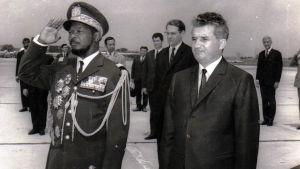 Keski-Afrikan keisari Bokassa Bukarestissa