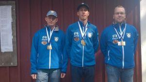 RS lag i allmänna klassen på 3x40skott (Max Westerlund, Robin Stenström, Stefan Räfså).