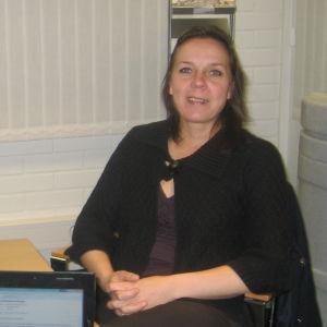 Cati Huhta som jobbar på Åbonejdens avfallsservice