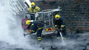 brandmän i arbete