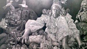 Stiina Saaristos Last Man Standing, blyertsteckning