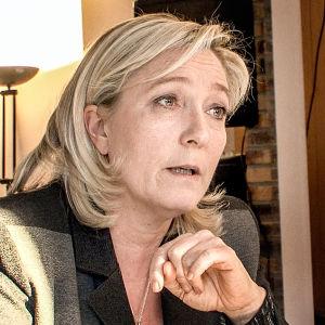 Äärioikeiston johtaja Marine Le Pen on Ranskan presidentinvaalien kärkinimiä.