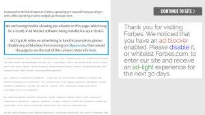Adblocker-igenkänning