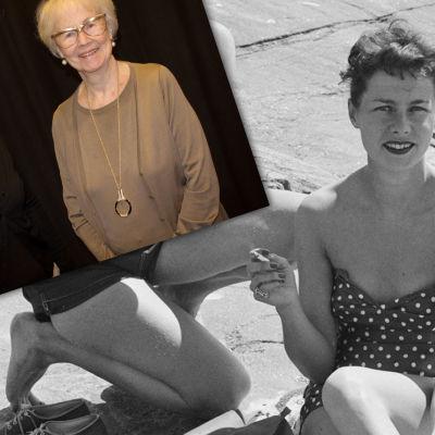 Kollage med gammal och ny bild av Jutta Zilliacus