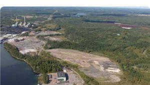 Gasterminalen skulle byggas i Joddböle i Ingå. Fortums kolkraftverk uppe till vänster.