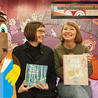 Illustratören Maija Hurme och författaren och illustratören Anna Härmälä.